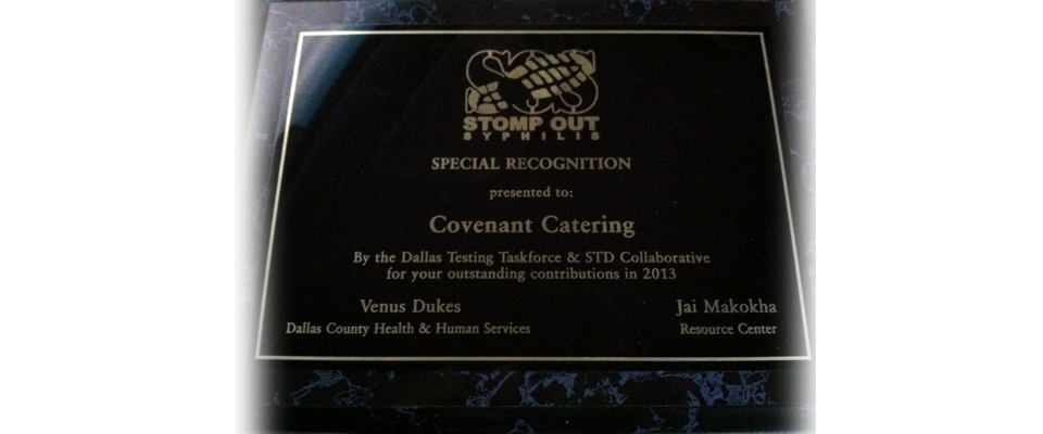 Covenant Catering Plaque